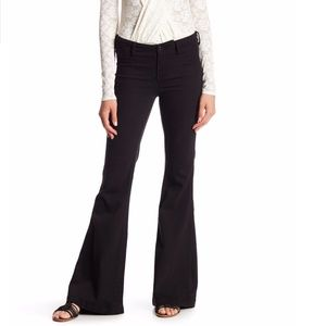 Free People black pull on flare jeans size 27